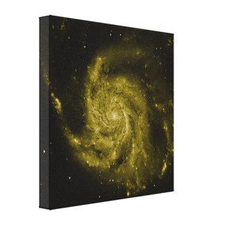 Spiral Galaxy (green composite) Gallery Wrap Canvas