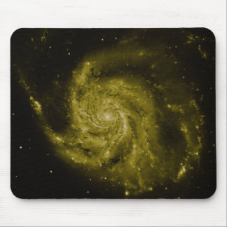 Spiral Galaxy (green composite) Mouse Pads