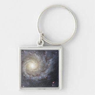 Spiral galaxy M74 Keychains