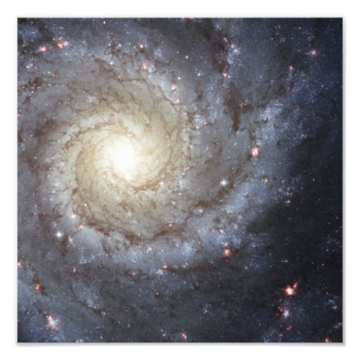 Spiral galaxy M74 Photographic Print