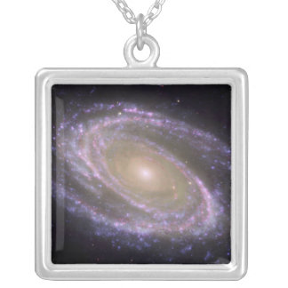 Spiral galaxy Messier 81 Silver Plated Necklace