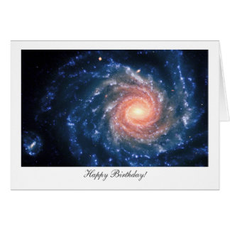 Spiral galaxy NGC 1232 - Happy Birthday Greeting Card