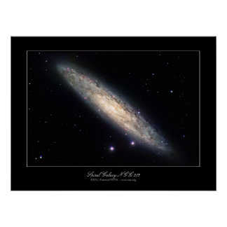 Spiral Galaxy NGC 253 outer space image Poster