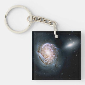 Spiral Galaxy NGC 4911 in the Coma Cluster Acrylic Keychains