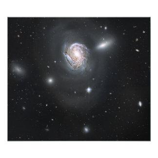 Spiral galaxy NGC 4911 Art Photo