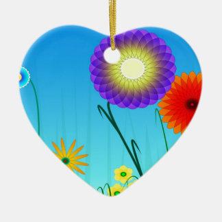 Spiral Garden Ceramic Heart Decoration