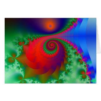 Spiral glory greeting card