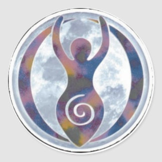 Spiral Goddess Window-Sticker Classic Round Sticker