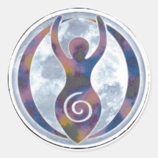 Spiral Goddess Window-Sticker Classic Round Sticker