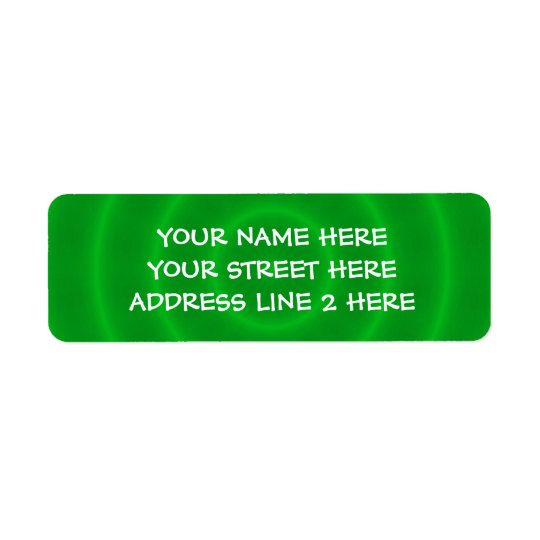 Spiral Green Address Labels
