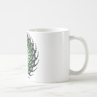SPIRAL GREEN BASIC WHITE MUG
