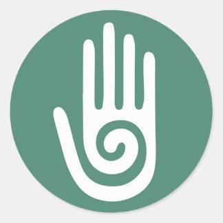 Spiral Hand healing hands Classic Round Sticker
