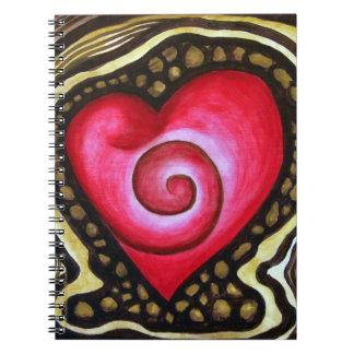 Spiral Heart of Love Notebook