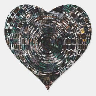 Spiral Heart Sticker