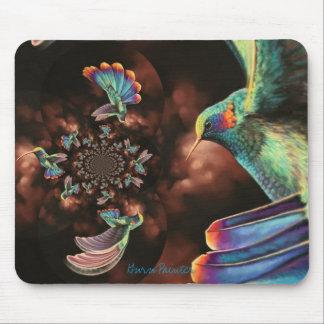 Spiral Hummingbird Mousepad