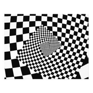 Spiral illusion pattern optical background design flyer design