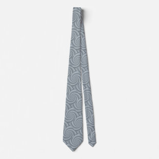 Spiral in brushed metal texture tie