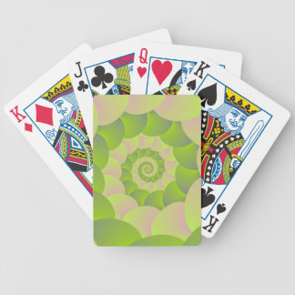 Spiral in Pink and Greens Bicycle Playing Cards