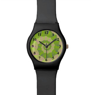 Spiral in Pink and Greens Watch