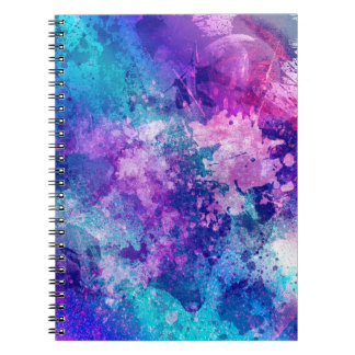 Spiral Journal With Grunge Art Cover