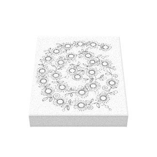Spiral Line Art Design Canvas Print