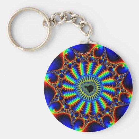 spiral-mandel basic round button key ring