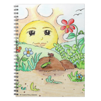 Spiral note book - the sun Gudrun