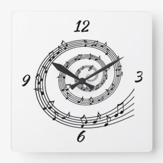 Spiral Note Wall Clock