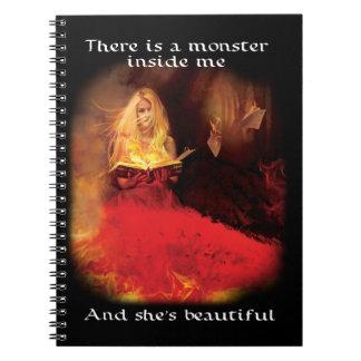 Spiral Notebook: Beautiful Monster Notebooks