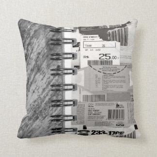 Spiral notebook cushions