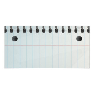 Spiral Notebook Lined Paper Custom Photo Card