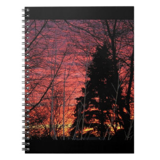 Spiral Notebook with Sunset