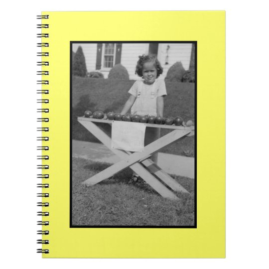 Spiral Notebook with Vintage Photo