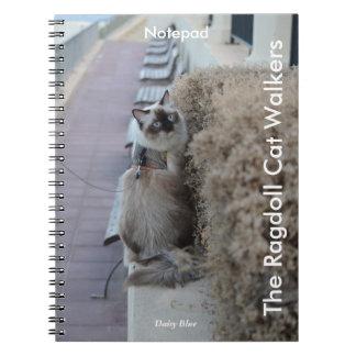 Spiral Notepad - The Ragdoll Cat Walkers Spiral Notebook