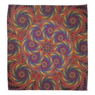 Spiral Octopus Psychedelic Rainbow Fractal Art Bandana