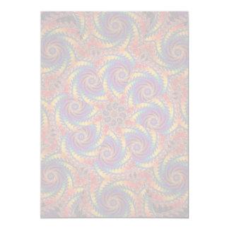 Spiral Octopus Psychedelic Rainbow Fractal Art 13 Cm X 18 Cm Invitation Card