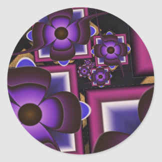 Spiral of Flowers Classic Round Sticker