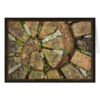 Spiral of pavement bricks card