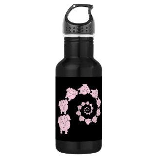 Spiral of Pink Elephants. 532 Ml Water Bottle