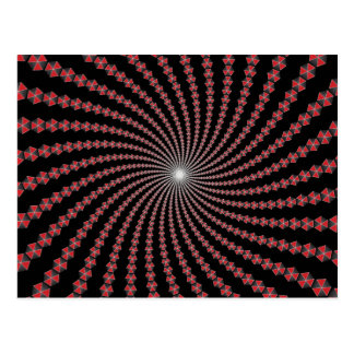 Spiral of Traingles: Vector Art: Postcard