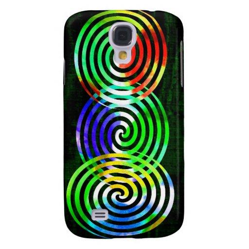 Spiral on Green Samsung Galaxy S4 Case
