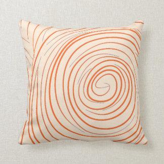 Spiral Orange Cushion