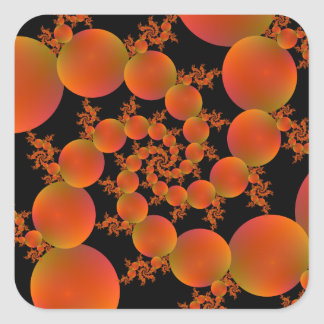 Spiral Oranges Square Sticker