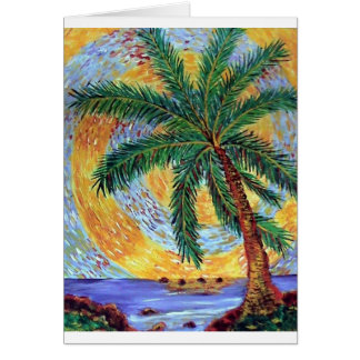 Spiral palm greeting card