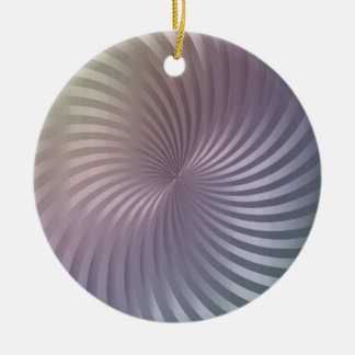Spiral Pattern Christmas Ornament