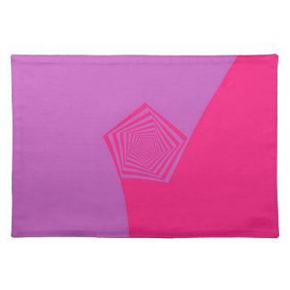 Spiral Pentagon in Pink Tones Placemats