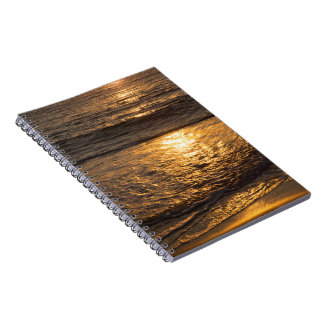Spiral photo note book - Sunset on the beach
