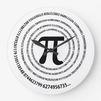 Spiral Pi Symbol Design Large Clock