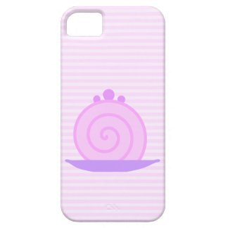 Spiral Pink Cake on Pink Stripes. Barely There iPhone 5 Case