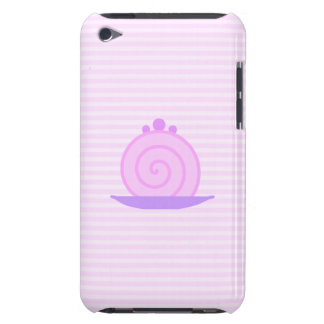 Spiral Pink Cake on Pink Stripes Barely There iPod Cases